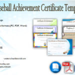 Baseball Achievement Certificate Templates [7+ BEST CHOICES]