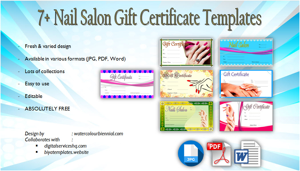 salon gift certificate template  10  beautiful designs free
