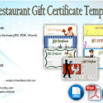 Restaurant Gift Certificate Template [7+ Best Designs of 2018]