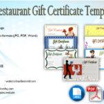 Restaurant Gift Certificate Template Free [7+ BEST 2021 DESIGNS]