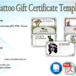 Tattoo Gift Certificate Template Free [7+ Coolest Designs]