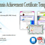 Tennis Achievement Certificate Templates [7+ FANTASTIC DESIGNS]