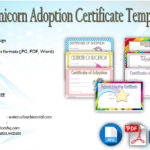 Unicorn Adoption Certificate Templates [7+ Wonderful Designs Free]