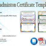 Badminton Certificate Templates