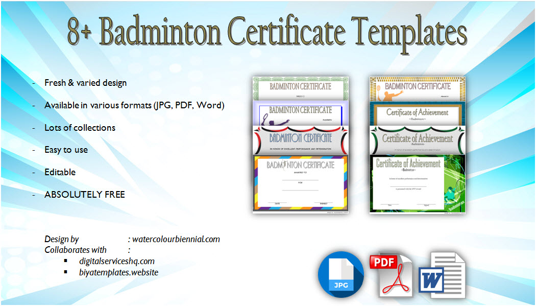 badminton certificate template, free badminton certificate template, sports certificate templates, badminton winner certificate, badminton certificates printable, tennis certificate template pdf, badminton certificate format, badminton certificate of participation, sports certificate templates for word, free tennis award certificate template, badminton tournament certificate, printable sports awards, badminton certificate design, badminton tournament certificate template, sports certificate template
