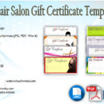 Hair Salon Gift Certificate Templates [8+ Beautiful Designs Free]