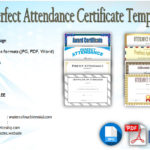 8+ Printable Perfect Attendance Certificate Template Designs