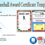 Editable Baseball Award Certificates [9+ Sporty Designs Free]