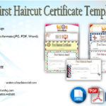 First Haircut Certificate Template [9+ Best Cute Designs]