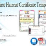 First Haircut Certificate Template [9+ Best Cute Designs]