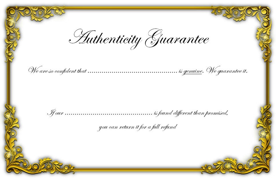 certificate of authenticity templates free  10  limited