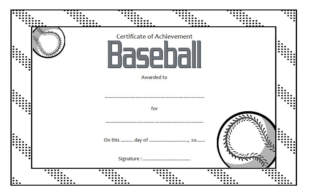 editable baseball award certificates  9  sporty designs free