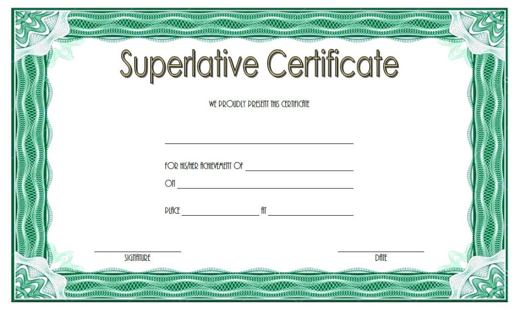 superlative certificate templates free  10  great designs