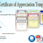 10+ Editable Certificate of Appreciation Templates