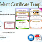 Certificate of Merit Templates Editable