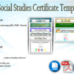 Editable Certificate Social Studies [10+ Perfect Designs Free]