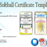 Printable Softball Certificate Templates [10+ Best Designs Free]