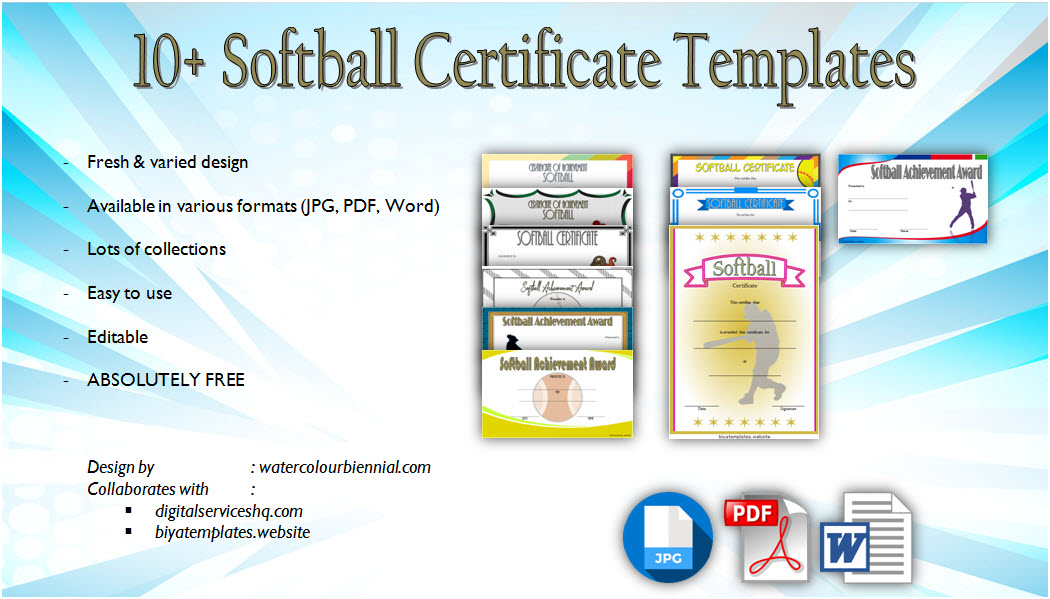 Download 10+ Printable Softball Certificate Templates, sports awards, achievement, participation, player of the match, mvp in pdf and word formats!
