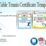 Table Tennis Certificate Templates Editable [10+ Best Designs]