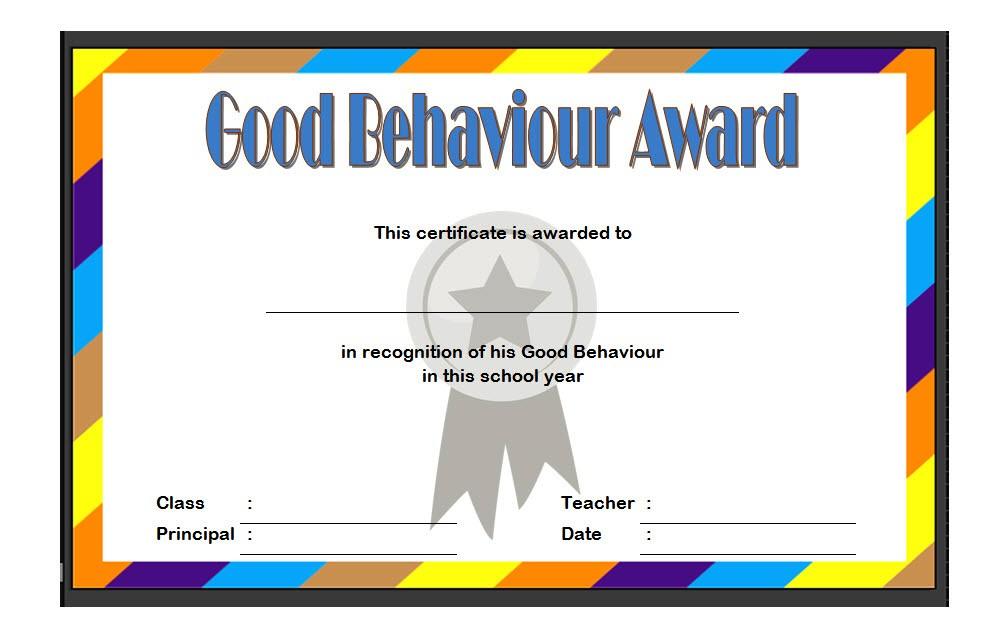 good behaviour certificate editable templates  10  best