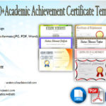 Academic Achievement Certificate Templates