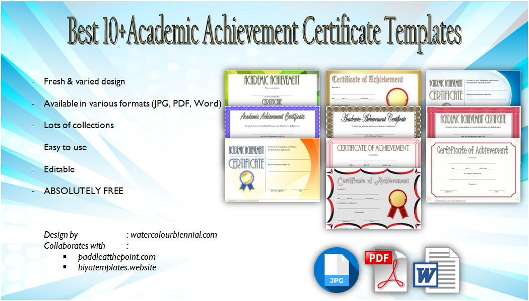 academic achievement certificate templates, academic excellence award certificate template, free student achievement certificate templates, free academic certificate templates, certificate of achievement template, school achievement certificate template, academic certificate sample, certificate of completion template