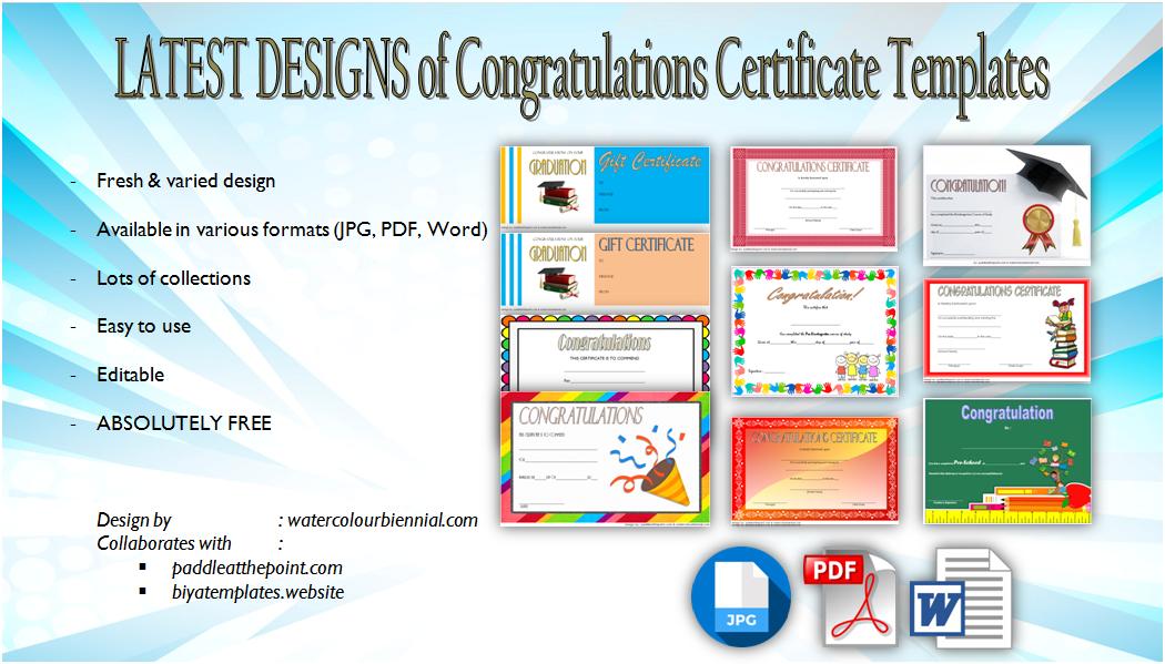 congratulations certificate templates  10  latest designs