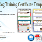 Dog Training Certificate Template [10+ Latest Designs FREE]