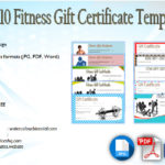 Editable Fitness Gift Certificate Templates