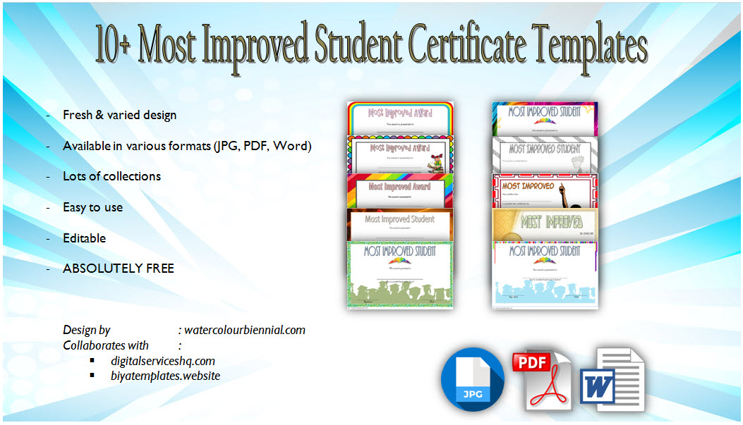 Most Improved Student Certificate Templates