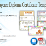 Daycare Diploma Certificate Templates