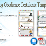 Dog Obedience Certificate Templates Free