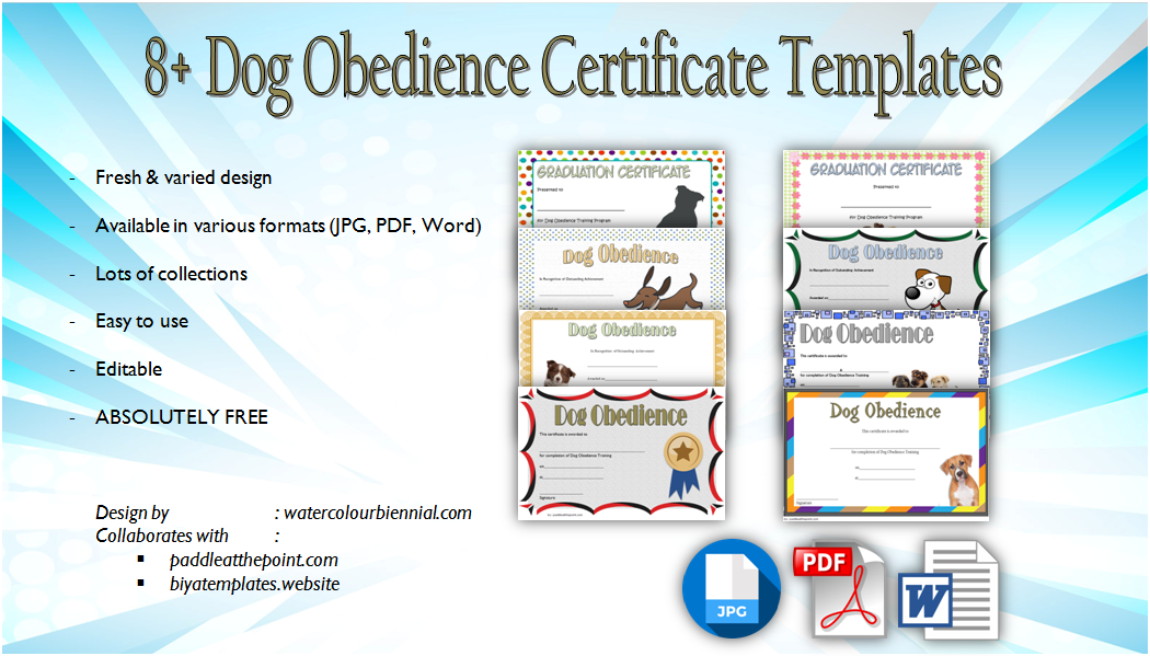 download dog obedience certificate templates, dog obedience training certificate template, dog obedience certificate printable, dog training graduation certificate template, training certificate template doc, dog training graduation certificate template, certificate of training template word