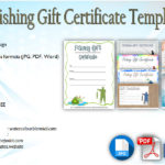 Fishing Gift Certificate Editable Templates