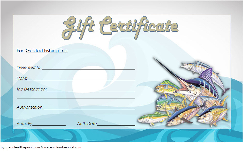 Download 7 Fishing Gift Certificate Editable Templates