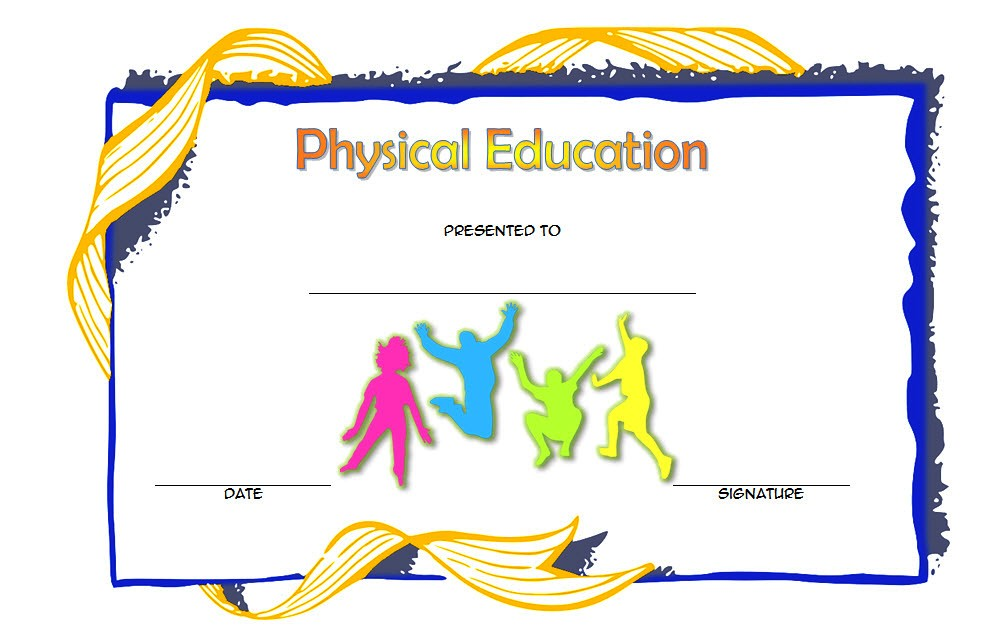 physical education certificate template editable, pe certificate templates, free printable physical education award certificates, physical fitness award certificate template, free printable certificates for students, free sports certificate templates, sports day certificate template