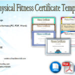 Physical Fitness Certificate Template Editable