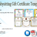 Babysitting Gift Certificate Template Free [7+ NEW CHOICES]