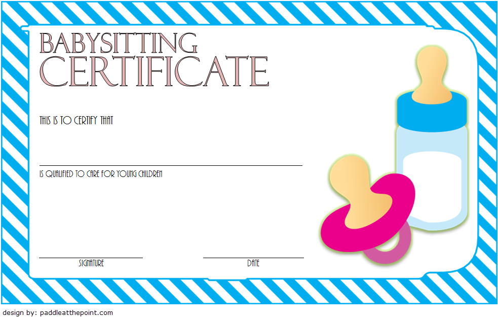 babysitting certificate template  8  latest designs in february 2019