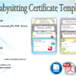 Babysitting Certificate Template [8+ LATEST DESIGNS]