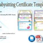 Babysitting Certificate Template [8+ LATEST DESIGNS]
