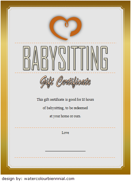 babysitting gift certificate template, babysitting voucher template printable, babysitting gift certificate printable, babysitting gift certificate funny, editable babysitting certificate, date night certificate template, free babysitting gift certificate template