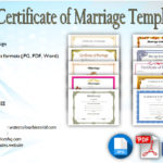 Marriage Certificate Editable Template [10+ ANTIQUE DESIGNS]