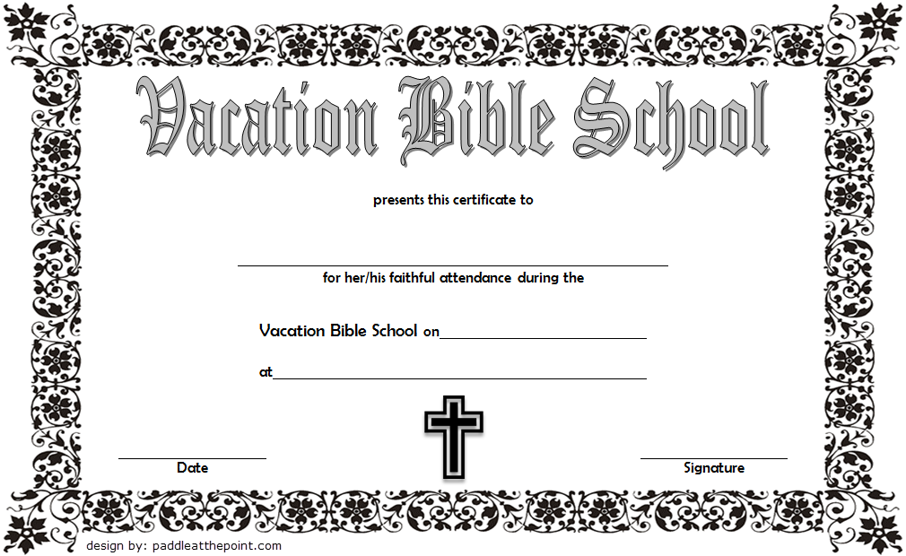 vbs certificate template free  lifeway  completion  attendance