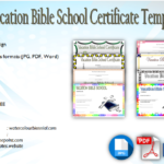 VBS Certificate Template Free: Lifeway, Completion, Attendance