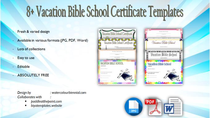 image about Vbs Certificate Printable titled VBS Certification Template Free of charge: Lifeway, Completion, Attendance