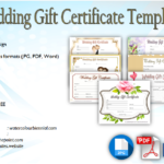 Wedding Gift Certificate Template [7+ BEAUTIFUL DESIGNS]