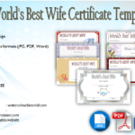 World's Best Wife Certificate Template Free