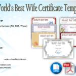 World's Best Wife Certificate Template Free [7+ BEAUTIFUL DESIGNS]