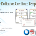 7+ Free Printable Baby Dedication Certificate Templates FREE